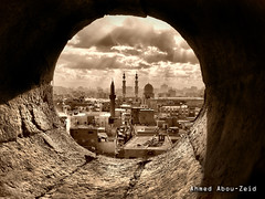Cairo From a View (Ahmed Abou-Zeid) Tags: sepia clouds egypt mosque cairo hdr