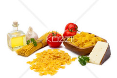 ingredients for pasta (alexfood8877) Tags: food cheese dinner tomato italian raw wheat meals grain bowtie vegetable pasta delicious noodles carbohydrate dried spaghetti dairy edible rigatoni fettuccine starch