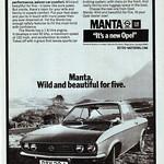 Opel Manta A Advert
