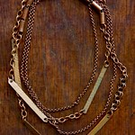 brass..copper...chain...hammered thumbnail