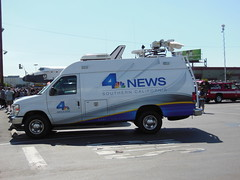 KNBC-TV Channel 4 Newsvan (bigmikelakers) Tags: california ford station television nbc losangeles network van westchester econoline affiliate newsvan knbctv