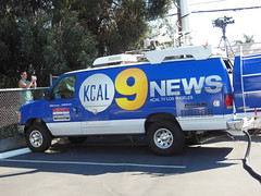 KCAL-TV Channel 9 Newsvan (bigmikelakers) Tags: california ford station television losangeles channel9 econoline newsvan kcaltv