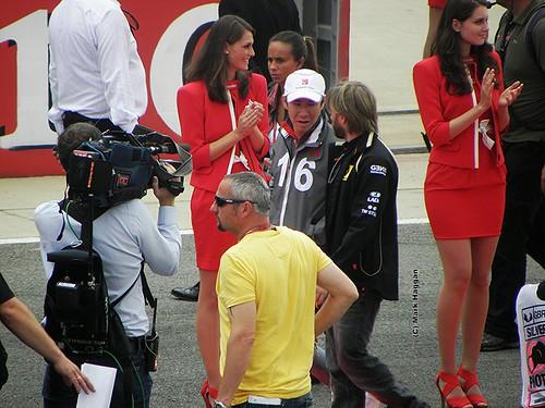 Kamui Kobayashi and Nick Heidfeld at the 2011 British Grand Prix