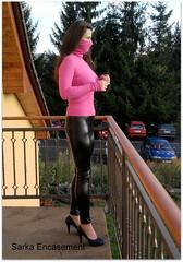 Fotografie8421f (Sarka Encasement) Tags: shiny turtleneck leggings