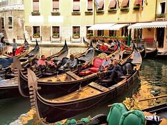 Having a Rest in Venice (saxonfenken) Tags: venice people italy boat canal workers gondola 211 gamewinner havingarest challengeyou challengeyouwinner thechallengefactory yourockwinner pregamesweepwinner 211boat