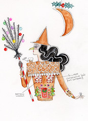 GINGERBREAD WITCH (Andrea Kett) Tags: witch gingerbread christmastree gingerbreadhouse broom christmascookies uglysweater hanselgretel gemsweater christmassweater christmasjumper gingerbreadwitch witchesnose andreakett