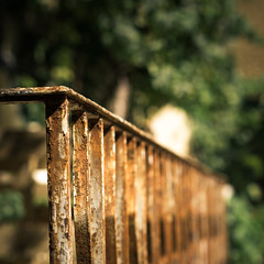 Rouille (PeterJ) Tags: light france fence square french rust dof bokeh lumire balcony rusty olympus grille fenced drome zuiko lr 2012 balustrade carr vendredi rouille rustyandcrusty lightroom clture hff rhonealpes barrire m43 500x500 mft gardecorps 45mm18 fencefriday happyfencefriday fencedfriday frompeterj dromeprvencale