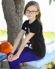 Smiling (dadblunders) Tags: camera tree fall kids pumpkin fun photography photo sitting farm lol humor peaceful pumpkinpatch toddlers parenting younggirlsmiling