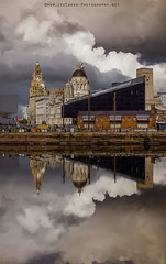 Reflection of Liverpool (Lee Carus) Tags: autumn reflection liverpool sony albertdock 3graces nex7
