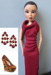 Project Project Runway - The Finale - Lava (katbaro) Tags: doll sewing projectrunway ppr dollclothes projectprojectrunway