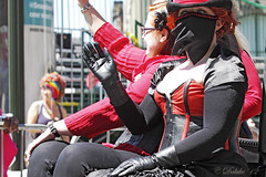 San Francisco Pride 2012 (Daluke) Tags: beauty leather fashion costume model victorian hats parade redhead gloves lgbt corset sanfrancsco sanfranciscopride leathergloves