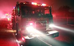 Detroit - Engine 56 (johnhanleyphoto) Tags: usa alarm truck fire box michigan detroit engine fireman ladder squad firefighter department