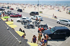 high angle view of parking lot with beach in background (grantrans8877) Tags: ocean road travel sea summer people sunlight ontario canada tourism beach water car bike outdoors photography sand parkinglot day bright parking horizon crowd sunny tourist fromabove transportation vehicle copyspace carpark enjoying enjoyment travelers crowded wasagabeach inarow blankspace colorimage leisureactivity modeoftransport placeofinterest unrecognizablepeople largegroupofpeople highangleview traveldestination landvehicle horizonoverwater miniatureeffect
