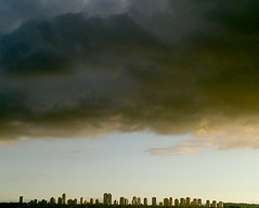 STORM OVER CITY (ikan1711) Tags: city autumn fall highrises cityskyline fallscenes highrisebuildings citybuildings autumndays autumnscenes metrotownburnabybc