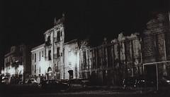 (Chiasme) Tags: street blackandwhite bw italy film night italia kodak ruin palermo notte biancoenero rovine 3200iso pellicola p3200tmz piazzamagione chiasme