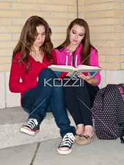 teenage friends studying together (elisapeople2012) Tags: friends girl beautiful beauty modern female bag reading book togetherness concentration student education pretty sitting friendship fulllength teenagers learning companion studying twopeople casualwear preparations bonding teamwork caucasian schoolbag companionship youthculture casualclothing universitystudent 1617years teenagersonly legscrossedatknee onlygirls personineducation secondaryschoolchild teenagegirlsonly personinfurthereducation