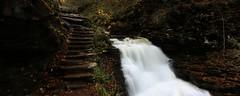 Upper Delaware Falls (TBJordan1) Tags: park broken photography waterfall long exposure state thomas tommy glen jordan land ricketts