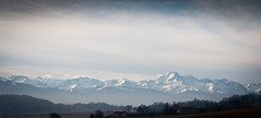 Cold Pyrenees (Dylan Farrow) Tags: france sentous mountains winter cold pyreness view snow wide sky afternoon website added