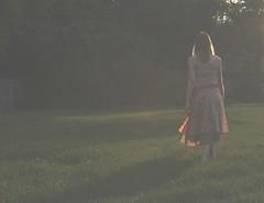 Inspired by..........heather ~ (michael.veltman) Tags: light woman sunlight beautiful field by dress dusk heather inspired ~