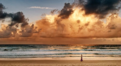 heaven and earth (cp991) Tags: moon beach nature clouds landscape gold nikon warm australia coastline eternal beachwalk currumbin afternoonlight heavenandearth rayofsunlight cameronpitcherphotography cp991