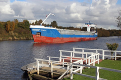 'Monica' Thelwall ferry 26th October 2012 (John Eyres) Tags: manchester canal ship monica thelwall