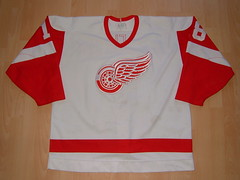 Detroit Red Wings 1990 - 1991 home Game Worn Jersey (kirusgamewornjerseys) Tags: hockey nhl worn gameworn gamewornjersey