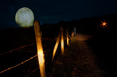 paranormal road activity (non stop creations- Sherry Landon) Tags: light moon fence nikon ghost stop sherry non barbwire landon creations d300