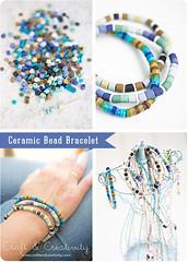 Ceramic bead bracelet (Craft & Creativity) Tags: ceramic diy crafts craft bracelet bead indanbeads