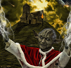 ANNUNTIO VOBIS horrorem magnum: habemus HALLOWEEN! (The PIX-JOCKEY (visual fantasist)) Tags: portrait sky pope halloween church night photoshop fire yoda joke fear fake humour vip horror photomontage chop caricature lightning ratzinger fotomontaggi robertorizzato pixjockey