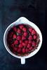 Fudgy Wudgy Raspberry Brownies (saraghedina) Tags: red stilllife black canon 50mm baking vegan chocolate bowl sugar raspberry brownies batter veganomicon 100vegan darkfood