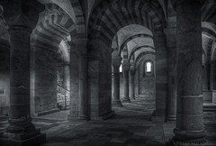 In the Crypt (Phil Comeau) Tags: bw church germany de arches crypt speyer rheinlandpfalz