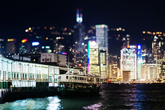 Real Light (timmytsang) Tags: ferry night canon hongkong 50mm bokeh f14 sony ef victoriahabour tiltshift ferrypier fdn nex5n