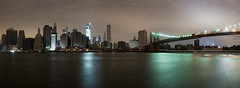 Lights Out: NYC (Vitaliy P.) Tags: park new york city nyc bridge november panorama storm black reflection building tower brooklyn night river out lights freedom aftermath nikon long exposure downtown power manhattan no pano sandy hurricane gehry east explore generators gothamist nikkor f28 2012 outage d600 explored 7028mm gettylicensed hurricanesandy