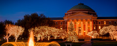 Holiday Lights at SMU 2012 (Ian Aberle) Tags: winter panorama holiday college fountain lights dallas university texas unitedstates tx pano quad location christmastree panoramic christmaslights smu stitched hdr universitypark 2012 stiched lightroom dallashall southernmethodistuniversity 3xp photomatix canonef50mmf18ii tonemapped 2ev tthdr realistichdr detailsenhancer exif:iso_speed=100 exif:focal_length=50mm campusbeauty geo:state=texas canoneos7d geo:city=dallas geo:countrys=unitedstates exif:lens=ef50mmf18ii camera:model=canoneos7d exif:model=canoneos7d ©ianaberle exif:aperture=ƒ25 geo:lat=32843967 geo:lon=9678483