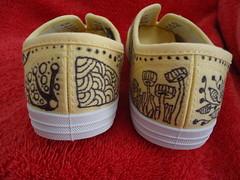 Zentangled Sneakers (sheridanwild) Tags: shoes sneakers zentangle