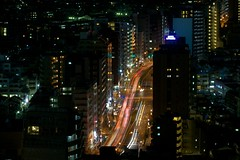 The Pulse of the City (jasohill) Tags: urban japan skyline night tokyo highway long exposure skyscrapers scene 日本 東京 expressway 道路 冬 車 風景 2012 buidlings 夜 都会