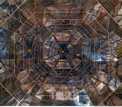 291 - Kaleidoscope Tower of Istanbul (Ata Foto Grup) Tags: roof sky reflection tower glass turkey underground subway mirror metro cam türkiye istanbul ceiling gökyüzü çatı levent kule yansıma ayna tavan metrocity yukarı kaleydoskop klaidescope yukarıbak camkule