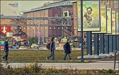 Design walkers (Passie13(Ines van Megen-Thijssen)) Tags: street people art walking design strasse nederland eindhoven menschen netherland lopen walkers brabant niederlande noordbrabant straat mensen lopers strijps niederland ddw canonef85mm18 5dmii inesvanmegen ddw2012 dutchdesignweekeindhoven2012