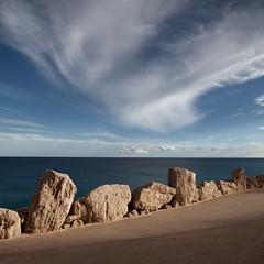 Stone way (Julio López Saguar) Tags: sea españa way mar spain camino stones fuerteventura horizon julio canaryislands horizonte piedras islascanarias lópez costacalma saguar