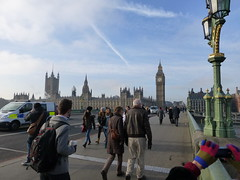 The House of Commons Big Ben and Westminster Bridge (Le monde d'aujourd'hui) Tags: green london westminster statues nelson abraham churchill lincoln winston including the mandella