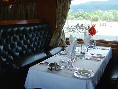 Rovos Rail from the Luxury Train Club - dining table