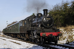 Great Central Railway Winter Gala 2013 (Graham Knott) Tags: greatcentralrailway 78019 quornandwoodhouse brstandardclass2 gcrwintergala2013