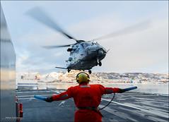 Learning to fly (Explored) (Hkon Kjllmoen, Norway) Tags: norway helicopter bod nh90 2013 kystvakt kvsvalbard norwegiancoastguard hkonkjllmoen wwwkjollmoencom