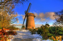 Windy Miller (Shertila Tony) Tags: park blue england sky lighthouse snow windmill weather rural europe day britain hill observatory hdr wirral bidston 100commentgroup mygearandme mygearandmepremium mygearandmebronze mygearandmesilver mygearandmegold mygearandmeplatinum mygearandmediamond