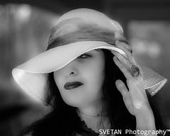 LADY IN HAT (RUSSIANTEXAN) Tags: bw monochrome mono nikon f14 tx daughter houston 85mm russian russiantexan anvarkhodzhaev russiantexas svetanphotography artwithinportraits d800e