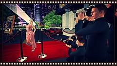 Athena (214) (Athena_sl) Tags: red woman men girl hat car pose carpet shoes dress avatar photographers spot secondlife blonde kc couture pizazz flah pzc lelutka
