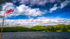 Flying High the Flag, Windermere, Lake District (Syed Ali Warda) Tags: sky holiday mountains green water landscape landscapes scenery artistic unitedkingdom flag lakedistrict bluesky windermere canon7d syedaliwarda