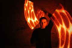 Magma 2 (Derbeth) Tags: juggling light d5000 glow poi red