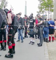 """bootsservice 16 470210 (bootsservice) Tags: paris leather orlando uniform boots rubber des bottes motos uniforme motorcyclists cuir motards caoutchouc motorbiker pride"""" """"gay """"marche fiertés"""""""