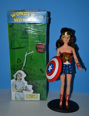 1967 Ideal Wonder Woman (trev2005) Tags: repro ideal super queens tiara wonder woman doll action figure comic heroines box captainaction captain america shield posin misty queen comicheroines dccomics idealmisty posing actionfigure